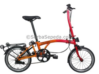 Sepeda Element Pikes 5 Speed Gold Dragon Fullbody